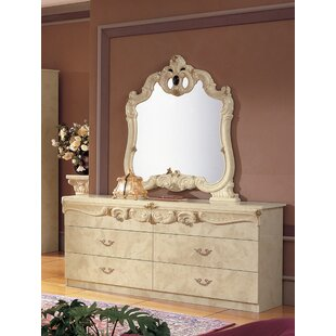Alexzander 4 Drawer Double Dresser with Mirror