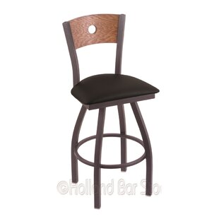 Lareau 36 Swivel Bar Stool Red Barrel Studio