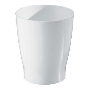 White Bathroom Garbage Cans bathroom trash cans - bathroom accessories | wayfair