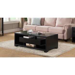 Cedeno Wooden Coffee Table With Storage by Winston Porter New Design