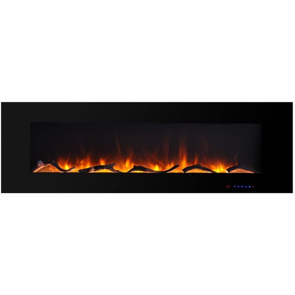 Orren Ellis Xeden Wall Mounted Electric Fireplace Wayfair