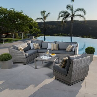Wade Logan Castelli 6 Piece Sectional Set with Cushions