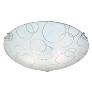 Ebern Designs Barela 2-Light Flush Mount