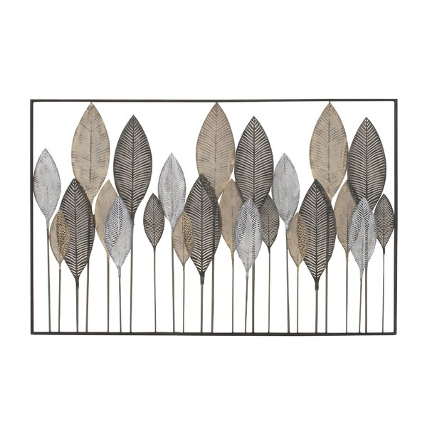 Metal Leaf Wall Decor cole & grey metal leaf wall décor & reviews | wayfair