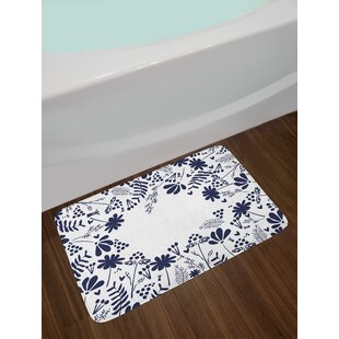 Botanical Navy Bath Rug