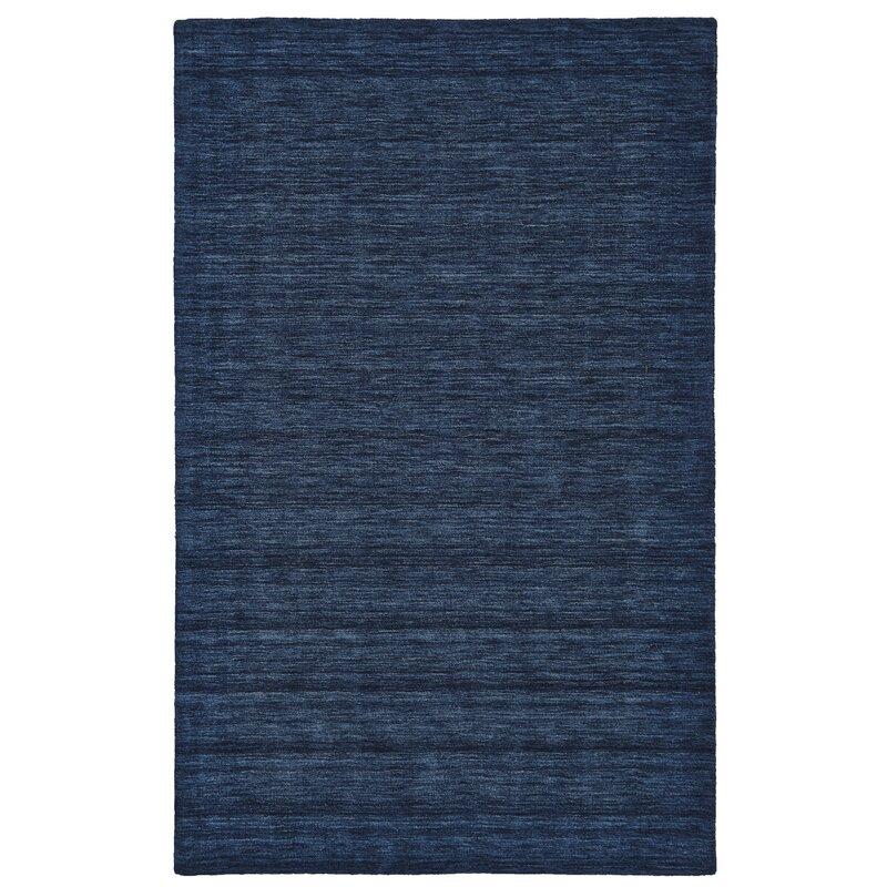 Ludlow Handwoven Wool Dark Blue Area Rug Reviews Birch Lane