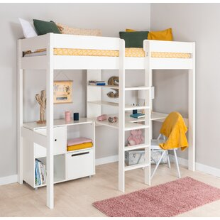 Single (3') High Sleeper Bed With Desk And Shelf By Stompa
