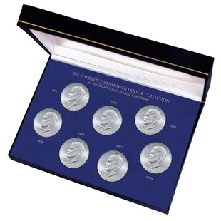Check Prices Complete Eisenhower Dollar Collection in Brilliant Uncirculated Condition Display Box ByAmerican Coin Treasures
