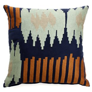 The Pillow Collection Jesolo Ikat Bedding Sham Multi Queen//20 x 30