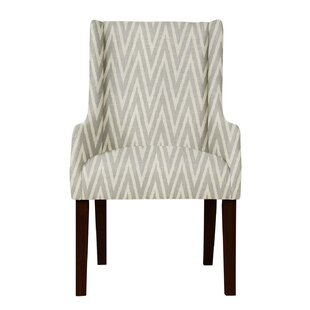 Larrabee Chevron Upholstered Arm Chair by..