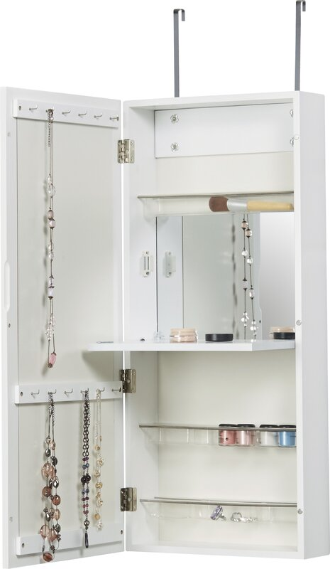 Great Kristen Jewelry And Makeup Cabinet Over The Door Jewelry Armoire With Mirror