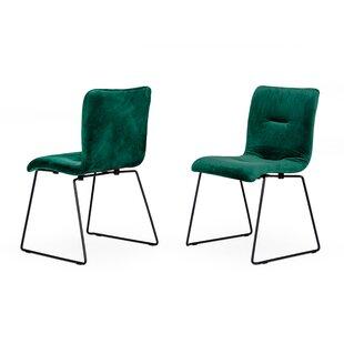 Langridge Upholstered Dining Chair Set of 2 by Latitude Run