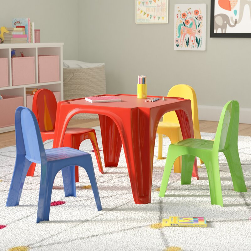 Karissa Kids Play Table and Chair Set : kids dining table set - pezcame.com