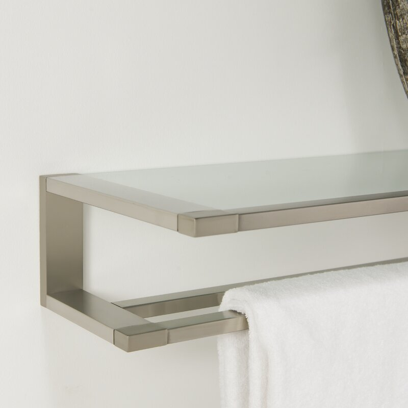 Tiger Glass Shelf Titems Hotel Double Wall Mounted Towel Rack | Wayfair
