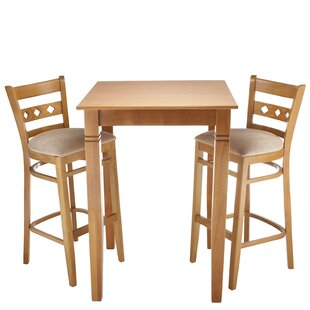 Yablonski 3 Piece Pub Table Set Red Barrel Studio
