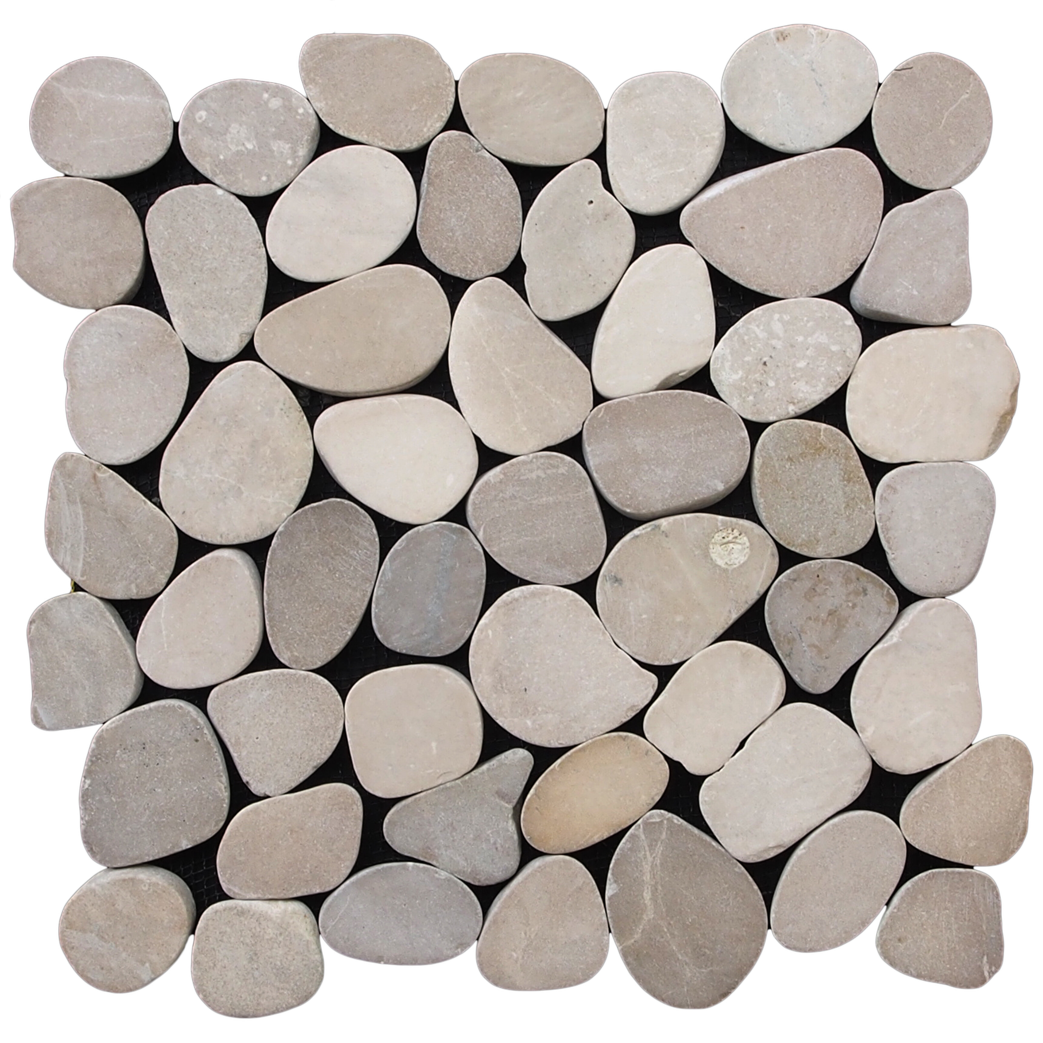Pebble Tile Sliced Random Sized Natural Stone In Tan Reviews Wayfair