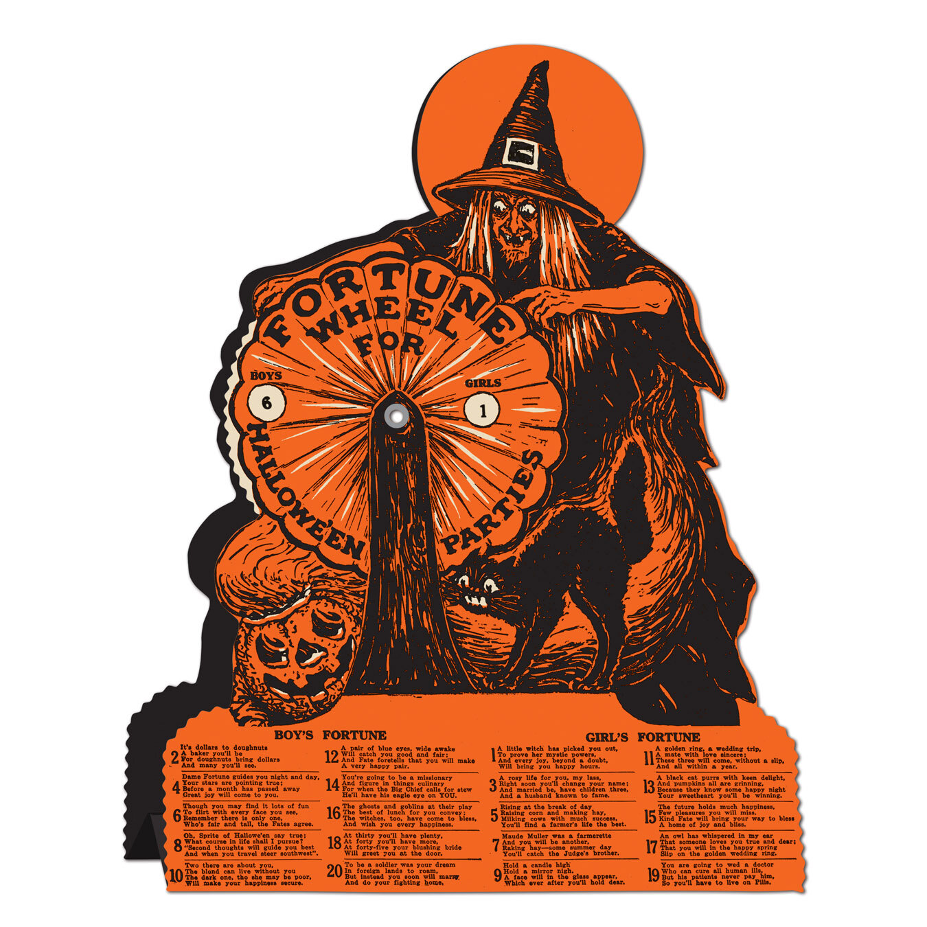 the holiday aisle halloween-vintage witch fortune wheel game