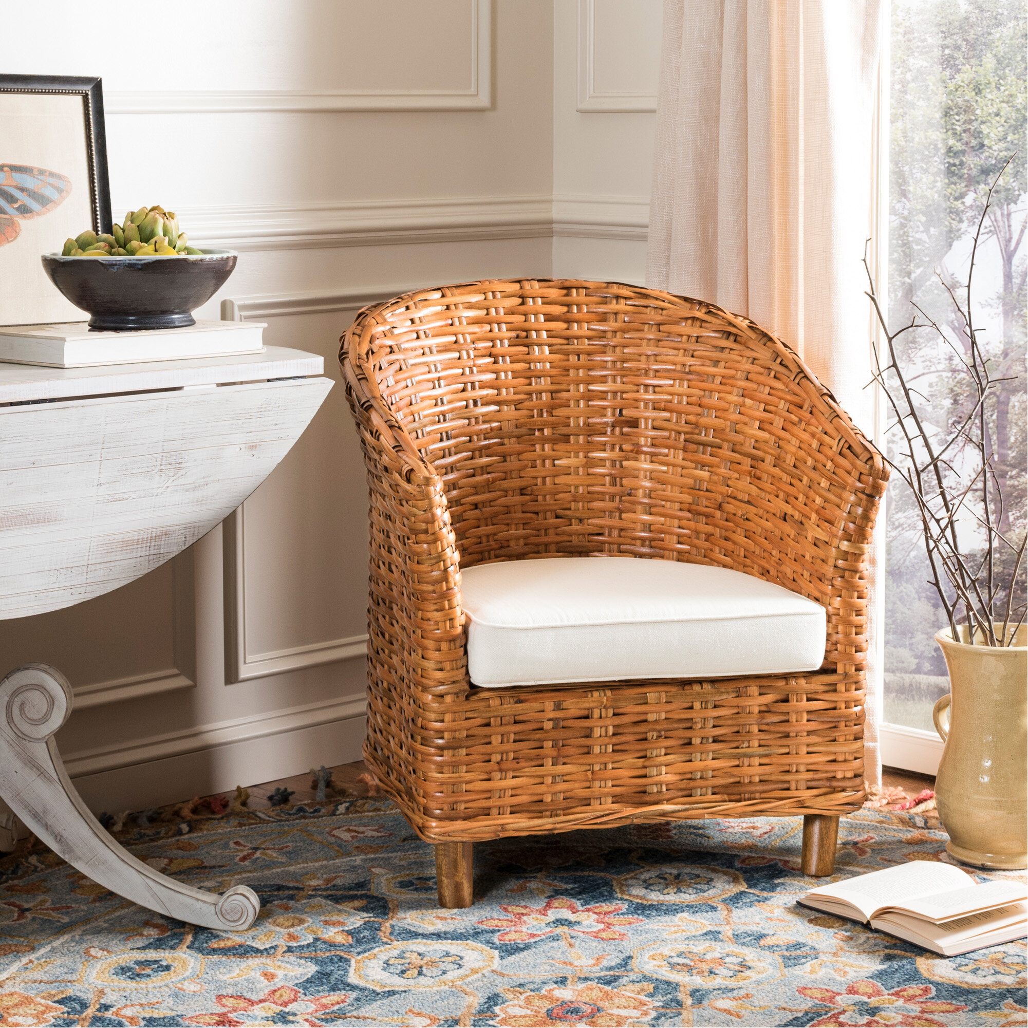 Delightful Beachcrest Home Biscayne Park Barrel Chair U0026 Reviews   Wayfair
