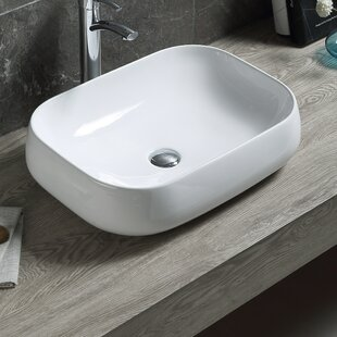 Find the perfect Modern Ceramic Oval Vessel Bathroom Sink with Overflow By Hometure