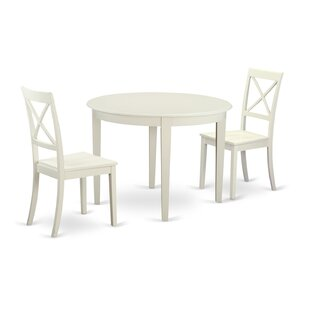 Hillhouse 3 Piece Solid Wood Dining Set by Red Barrel Studio Savings