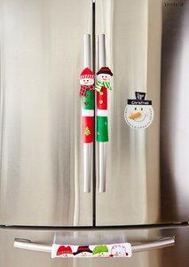 4 Piece Snowman Kitchen Appliance Handle Cover and Countdown Calendar Set