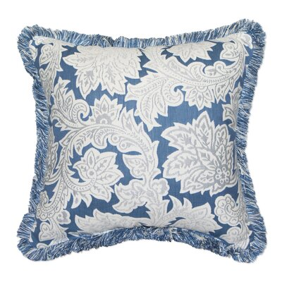 Jacobean Spring Sunbrella Indoor / Outdoor Floral Throw Pillow by Inspired Visions Herry Up