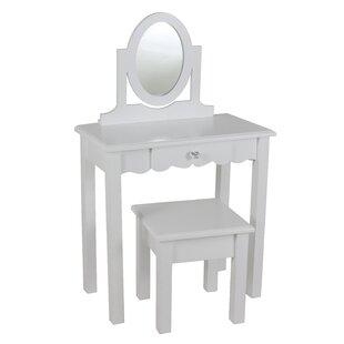Look for Dannie Vanity Set with Mirror ByHarriet Bee