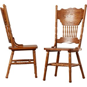 heliotrope solid wood dining chair set of 2