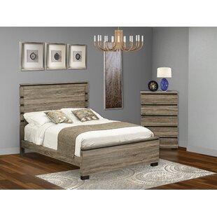 Jens Queen Solid Wood Platform 2 Piece Bedroom Set