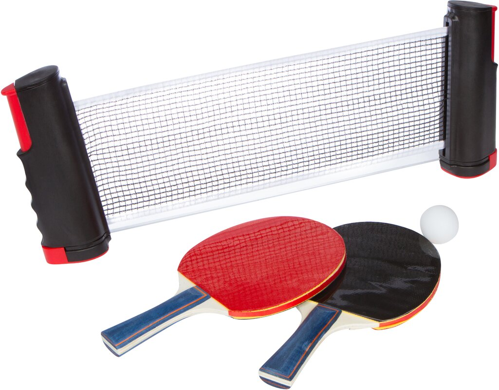 Portable Table Tennis Set with 2 Extra Sturdy Paddles and Balls  sc 1 st  Wayfair & Trademark Innovations Portable Table Tennis Set with 2 Extra ...