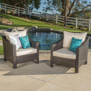 Wolfhurst Patio Chair with Cushion (Set of 2) Andover Mills