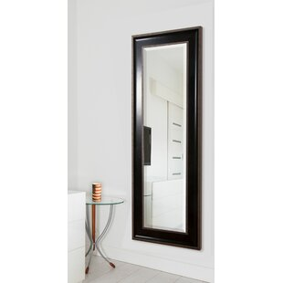 Bargain Black With Silver Caged Trim Full Length Beveled Body Mirror ByDarby Home Co
