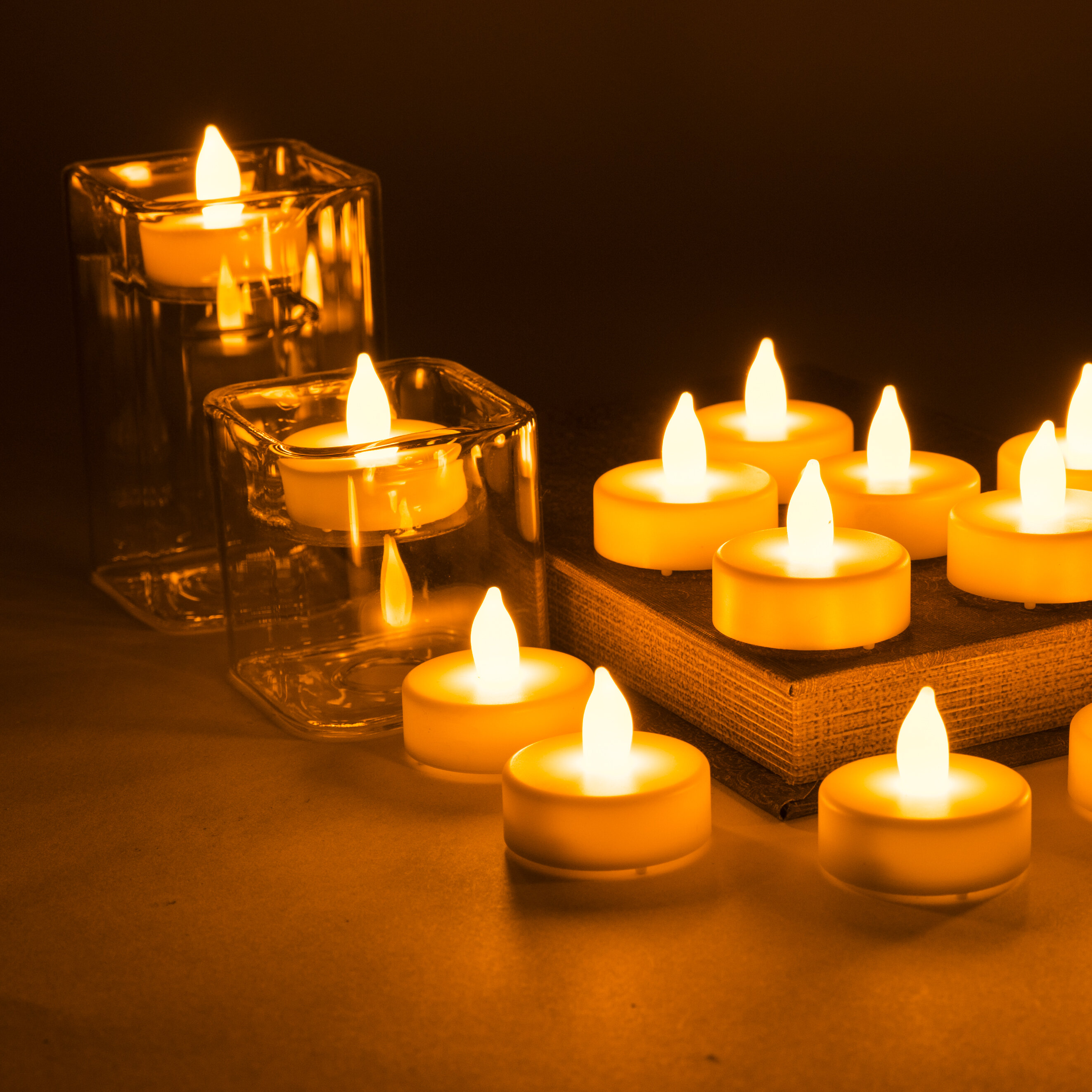 Wax Drip Effect Candle LED Light with Blow On blow Off Sensor Flickering Flame