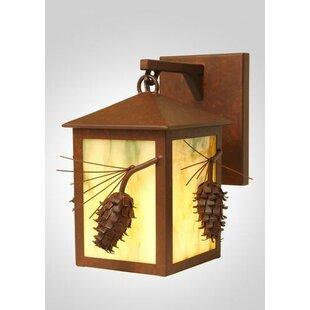 Steel Partners Ponderosa Pine Small Hanging 1-Light Outdoor Wall Lantern