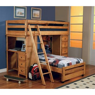 Inexpensive Waite Twin over Twin L-Shaped Bunk Bed by Harriet Bee Reviews (2019) & Buyer's Guide