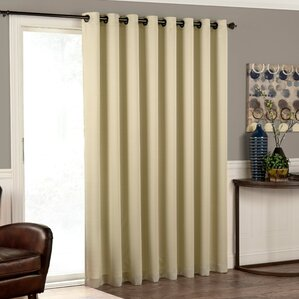 Cantor Solid Room Darkening Grommet Single Curtain Panel