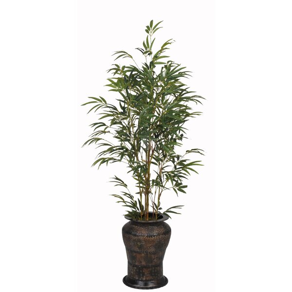 House Of Silk Flowers Artificial Yellow Bamboo Tree In Decorative