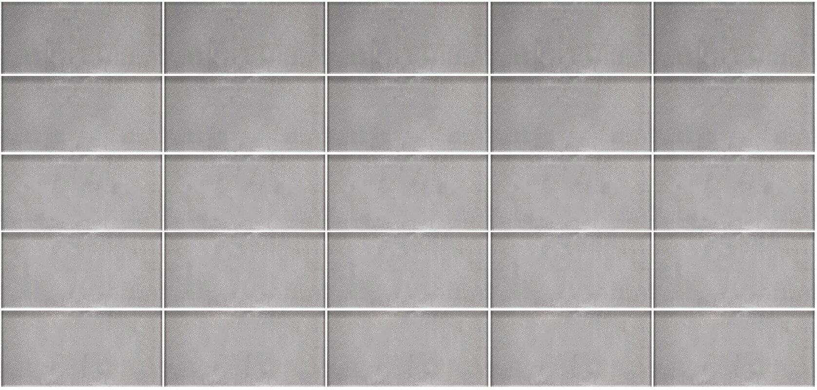 Abolos secret dimensions 3 x 6 glass subway tile in dark silver secret dimensions 3 x 6 glass subway tile in dark silver dailygadgetfo Gallery