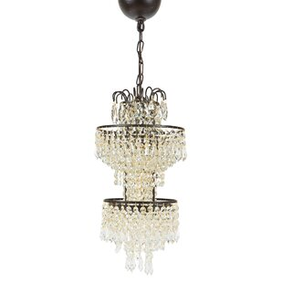 Tier Antigue 1-Light Crystal Pendant by Manor Luxe