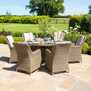 Scribner 6 Seater Dining Set With Cushions By Sol 72 Outdoor