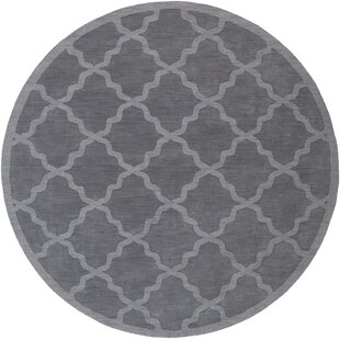 Blankenship Hand-Woven Charcoal Area Rug by Charlton Home