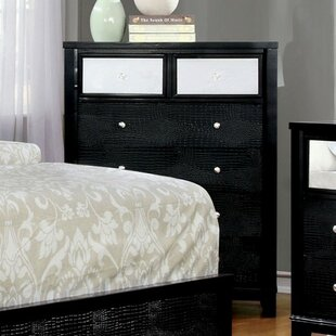 Clarice Contemporary Textured 6 Drawer Chest by World Menagerie