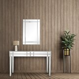 Hoskins 48 Console Table and Mirror Set by Everly Quinn