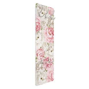 Peonies Rosé White Wall Mounted Coat Rack By Symple Stuff