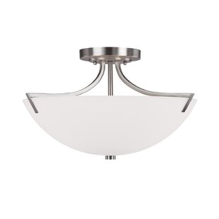 Brickyard 3-Light Semi Flush M..