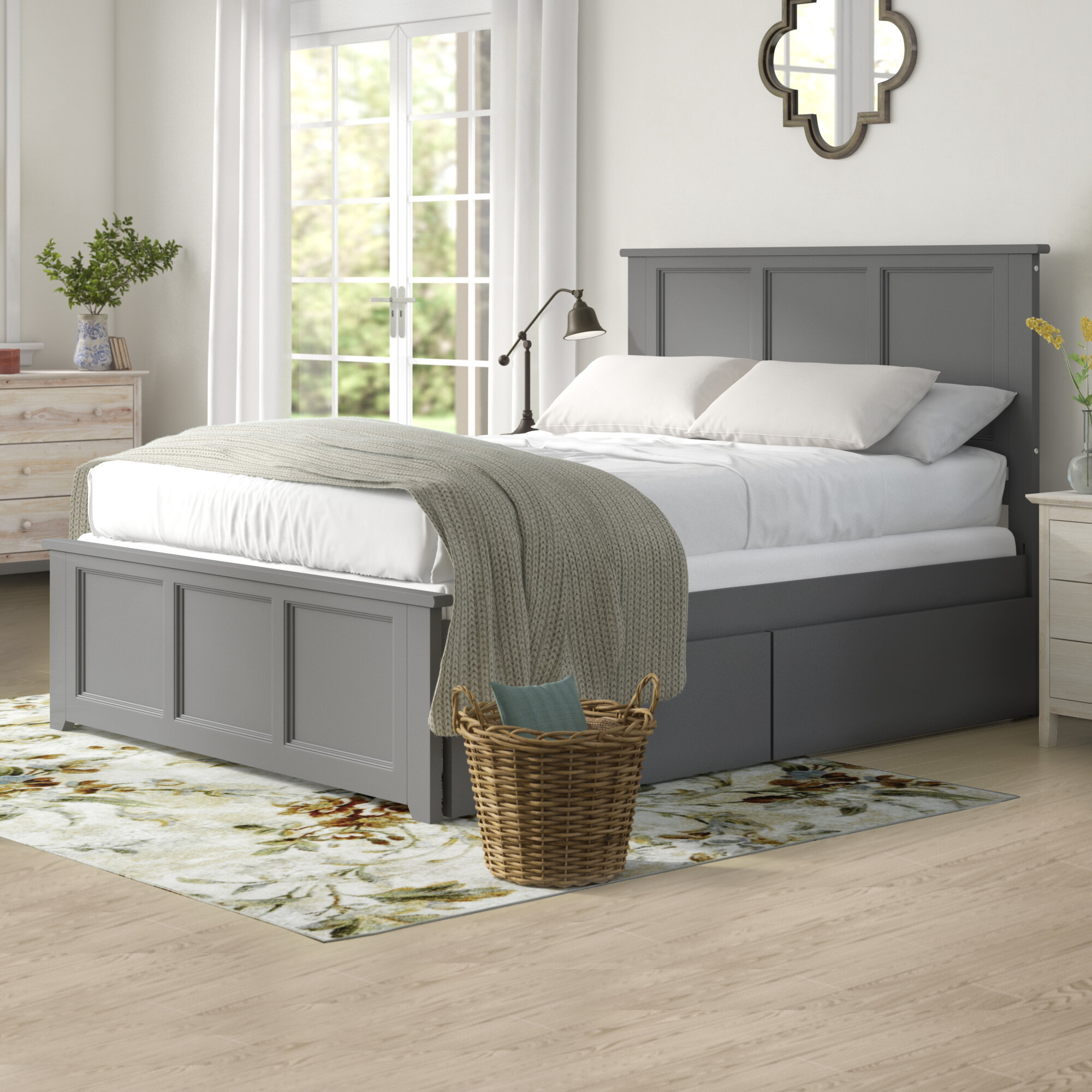 Queen Size White Wood Beds You Ll Love In 2020 Wayfair