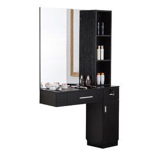 Brecken Hair Styling Barber Station Floating Desk With Hutch by Ivy Bronx Design