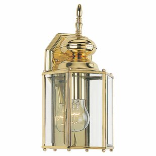 Redfern 1-Light Outdoor Wall Lantern With Clear Beveled Glass by Alcott Hill Best