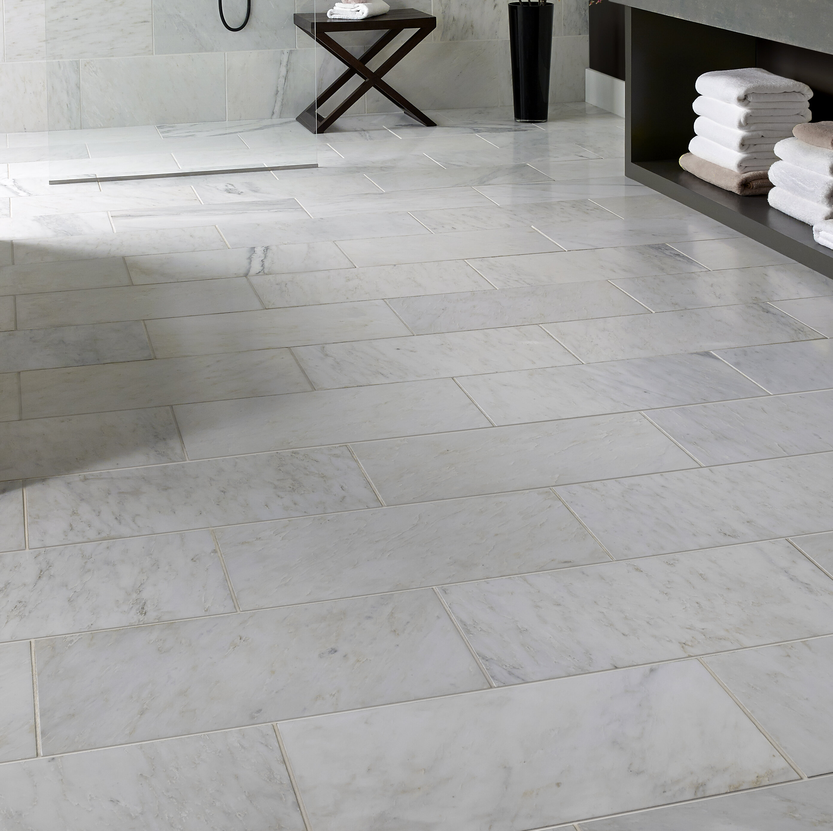 Msi Carrara 12 X 24 Beveled Natural Stone Marble Look Wall Floor Tile