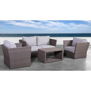 Cody 5 Piece Rattan Sofa Seating Group With Cushions by Rosecliff Heights Bargain